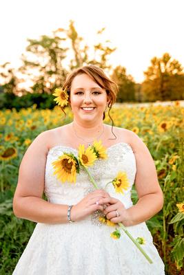 Sunflower, Bridal, Sunset,